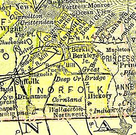 chesapeake virginia map
