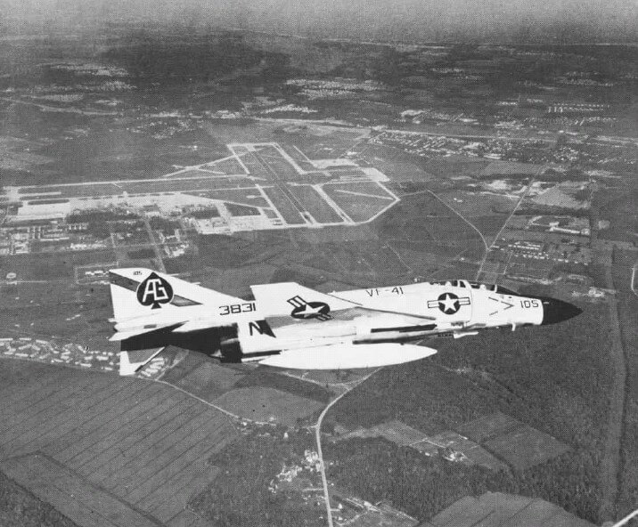 F-4J VF-41 over NAS Oceana NAN10-71
